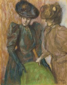 Edgar Degas The Conversation Canvas Print 16 x 20     #4273
