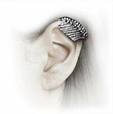 New Alchemy Gothic Mortal Frame Rib Single Pewter Ear Cuff Earring E268