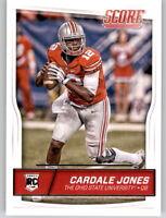 2016 Score Cardale Jones NFL PWE RC Rookie Insert XFL Bills #336