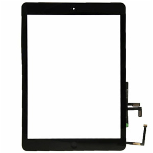 TOUCH SCREEN VETRO APPLE IPAD 6 AIR 2018 A1893 A1953 A1954 VETRO NERO + TASTO