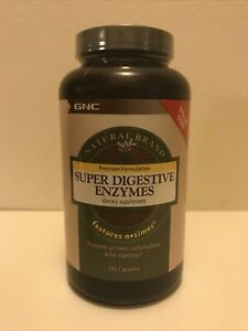 GNC Natural Brand Super Digestive Enzymes 240 Capsules Free Fast SnH Exp 4/2020