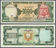 ECUADOR P125b**1000 SUCRES***ND 1988***UNC GEM***USA SELLER