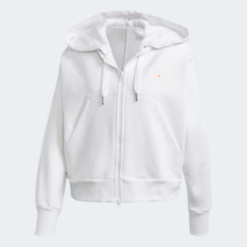 adidas by Stella McCartney Womens Cropped Hoodie white