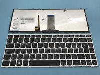 New For LENOVO G40-80 Z40-70 Z40-75 Latin Spanish Keyboard Backlit Silver frame