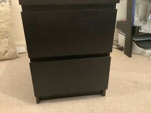 IKEA MALM BEDSIDE CABINET/TWO DRAWER CHEST