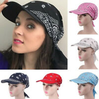 Women Wide Brim Sun Hat Scarf Cap Chemo Hijab Turban Head Wrap Scarf Cove_vi