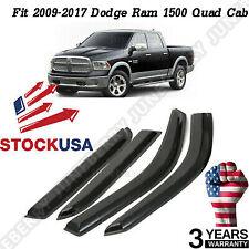 Window Visor Shade Sun Rain Guards Fit For 2009-2017 Dodge Ram 1500 Quad Cab