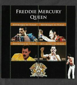 Queen -Freddie Mercury Tchad 2020 special issue   stamps fu/cto