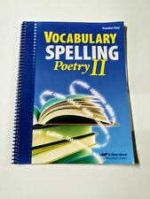 Abeka Vocabulary Spelling Poetry II 8th Grade 8