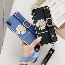 3D Flower Daisy Holder Kickstand Lanyard Phone Case Cover For iPhone11Pro XR XS
