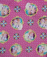 Disney Frozen Elsa Anna Framed PINK Cotton Fabric Springs Creative BTY 43/44