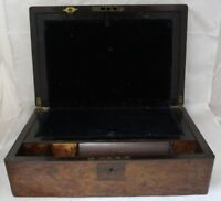 Victorian Mahogany Mother of Pearl Inlay Writing Slope Box Secret Drawers - 250