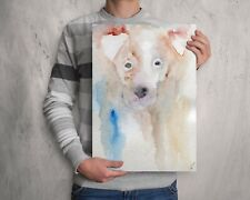 Jack Russel pup watercolour painting, Portrait artwork, Original wall art print