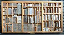 Letterpress Art Wall Hanging Vintage Type Drawer Whittier CA USA Printing Dies#2