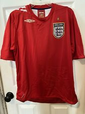 Umbro England Soccer Jersey Red Football 2006-2008 Size Large Excellent