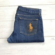 Mens Ralph Lauren Casual Flare Bootcut Jeans Blue W32 L28  #CT56