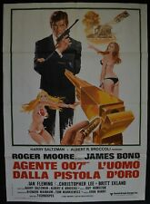 manifesto 2FG JAMES BOND 007 L'UOMO DALLA PISTOLA D'ORO Golden Gun ROGER MOORE