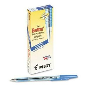 New Pilot Better Ballpoint Stick Pen, Medium Point, Blue Ink, Pack of 12 (36711)