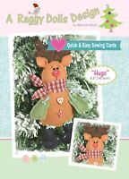 HUGO REINDEER - Sewing Craft A5 Creative Card PATTERN - Christmas Decoration