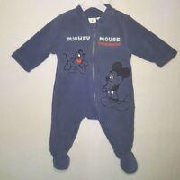 DISNEY surpyjama pyjama polaire MICKEY bleu 1 / 3 / 6 / 12 ou 18 mois NEUF