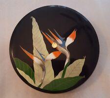 Vintage Otagiri Lacquerware Bento Box Divided Lidded Container Bird of Paradise