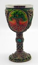 "Tree of Life Chalice Cold Cast Resin 7.25"" high by 3.5"" wide"