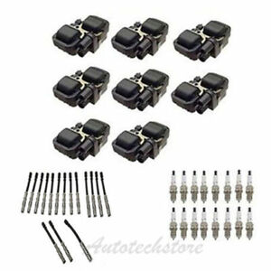 UF-359 8 Ignition Coil & SK16R11 Spark Plug & Wire Set For Mercedes B320*8 IC518