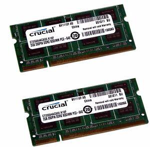 Crucial Memory Ram Laptop DELL Latitude E5400 E5500 E6400 E6500 D530 D531 D630*6