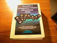 1994 Bowker's Complete Video Directory Volume 1: Entertainment