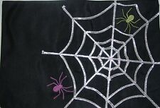 New listing New Halloween Black With Silver Spider Web And Spiders Placemat Set Of Four