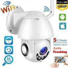 PTZ Wifi IP Cámara 1080P Dome HD ONVIF Vigilancia Seguridad Exterior IR Webcam