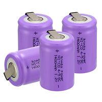Anmas Power ~ 4 PCS Purple 4/5 Sub C SC 1.2V 1400mAh NiCd Rechargeable Battery