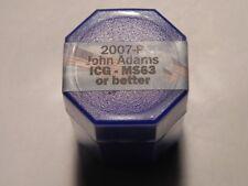 2007-P John Adams $20 Roll MS63 or Better Presidential Dollar Coins
