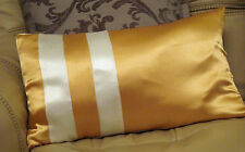GOLD AND CREAM SATIN BOLSTER DESIGN CUSHION COVER NO2.