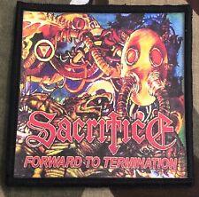 Sacrifice Forward To Termination Printed Patch S046P Voivod Warbringer Exodus