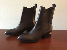 Alexander Wang Anouck Black Leather Ankle Boots Size 37