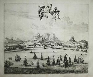 South Africa Cape of Good Hope Cape Town Südafrika engraving Kupferstich 1720