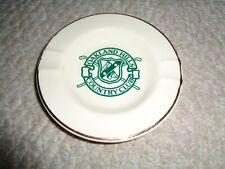 Oakland Hills Country Club Golf ashtray cream base  00004000 green logo thick mold Usa