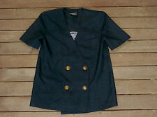 "Retro Australian Made 70s 80s Brass Button Jacket "" Impressions "" Size 10"