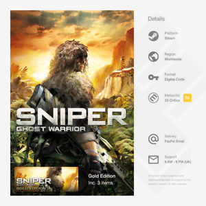 Sniper Ghost Warrior Gold Edition (PC) - Steam Key [GLOBAL, MULTI-LANG, INSTANT]