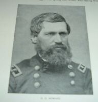 1899 Antique Print UNION GENERAL OLIVER OTIS HOWARD from Photograph