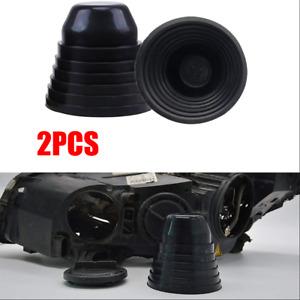 2Pcs 70mm - 100mm Dia Rubber Housing Seal Cap Dust Cover for Car LED Headlight