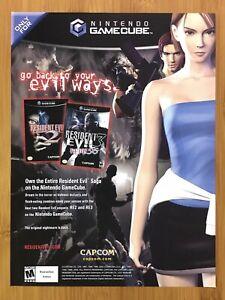 Resident Evil 2 & 3 Nemesis Gamecube 2003 Print Ad/Poster Official Promo Pop Art