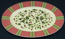 "Waverly Garden Room Floral Manor Oval Platter 14"" -  Made in Poland"