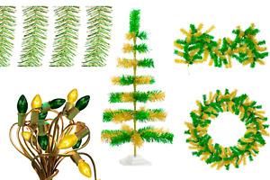 St. Patricks Day Decoration Bundle Kit 3FT Tree, Garland, Lights, Tinsel Garland