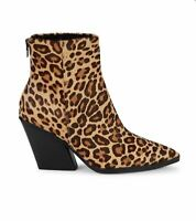 Women's NWT Dolce Vita Issa Leopard-Print Calf Hair Ankle boots size 7.5