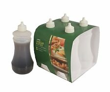 4 x Plastic Vinegar Bottle 375ml Fish And Chip Shop Vinegar Container Take Away