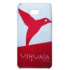 Ushuaia Ibiza Caja Del Teléfono Móvil Samsung Galaxy SII Colibrí Logo Rojo Oficial