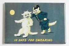 Cat Police FRIDGE MAGNET (2.5 x 3.5 inches) swearing white kitten