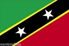 "St Kitts 18"" X 12"" Flag Boats Treehouses Caravans Saint Basseterre Caribbean"